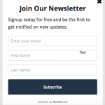 Call to Action | Subscription Optin